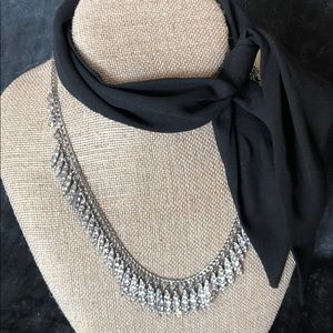 Lumiere collar necklace with scarf
